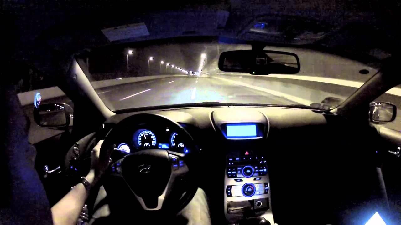 Hyundai Genesis Coupe 2.0T   19T Turbo Upgrade   High Speed Runs   Go Pro  HD   YouTube
