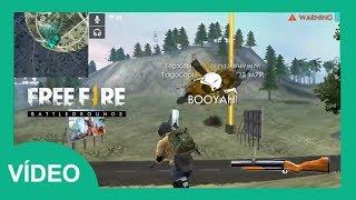 [VÍDEO] FREE FIRE - BOOYAH COM INSCRITOS / APELANDO COM O LANÇA GRANADAS NO FINAL