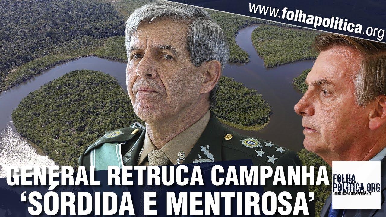 General Heleno reage a 'campanhas sórdidas' para prejudicar Bolsonaro e o Brasil