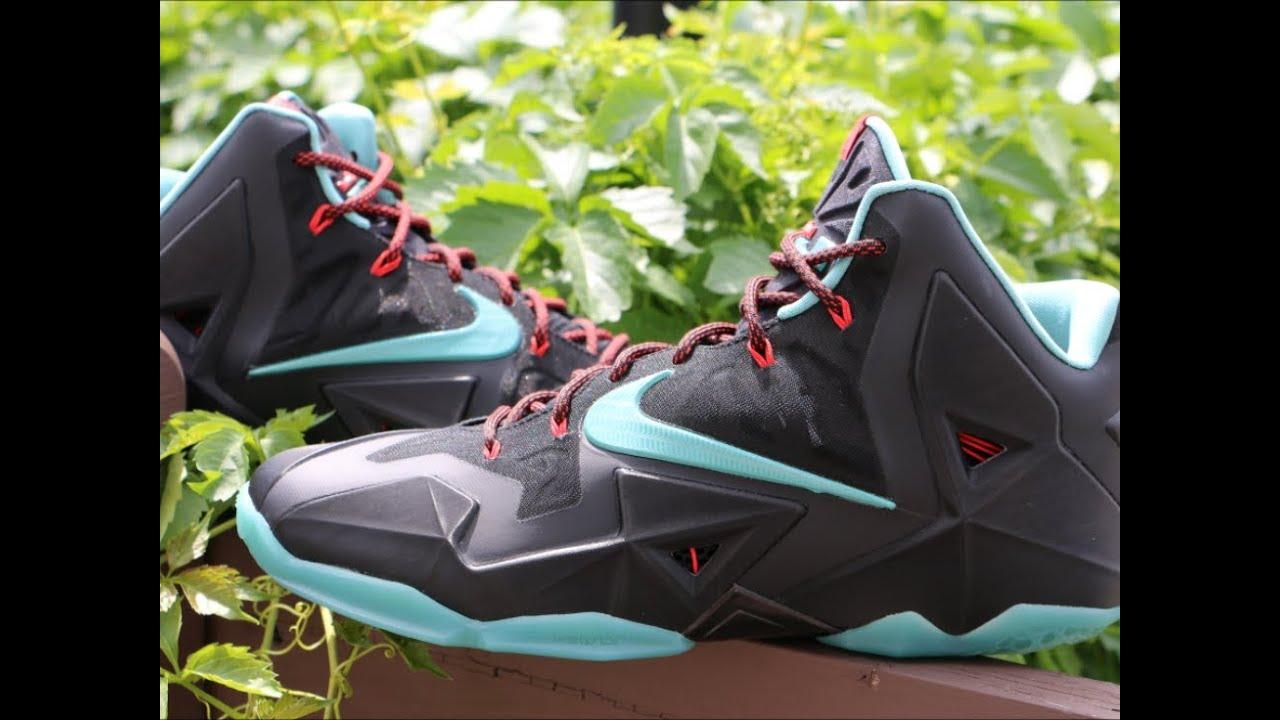 on sale 3a5ec e96e8 Nike Lebron 11 Diffused Jade Black Red
