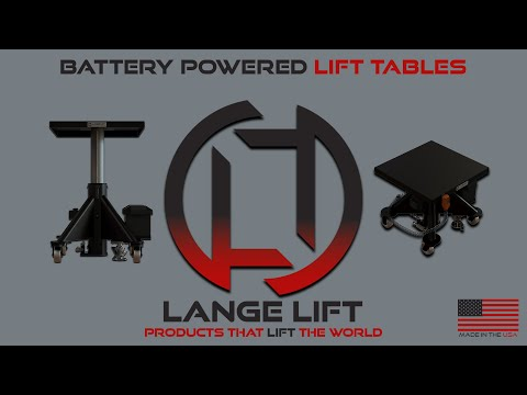 Battery Powered Lift Table, 3,000 Pound Capacity - Lange Lift Model L-348 BP