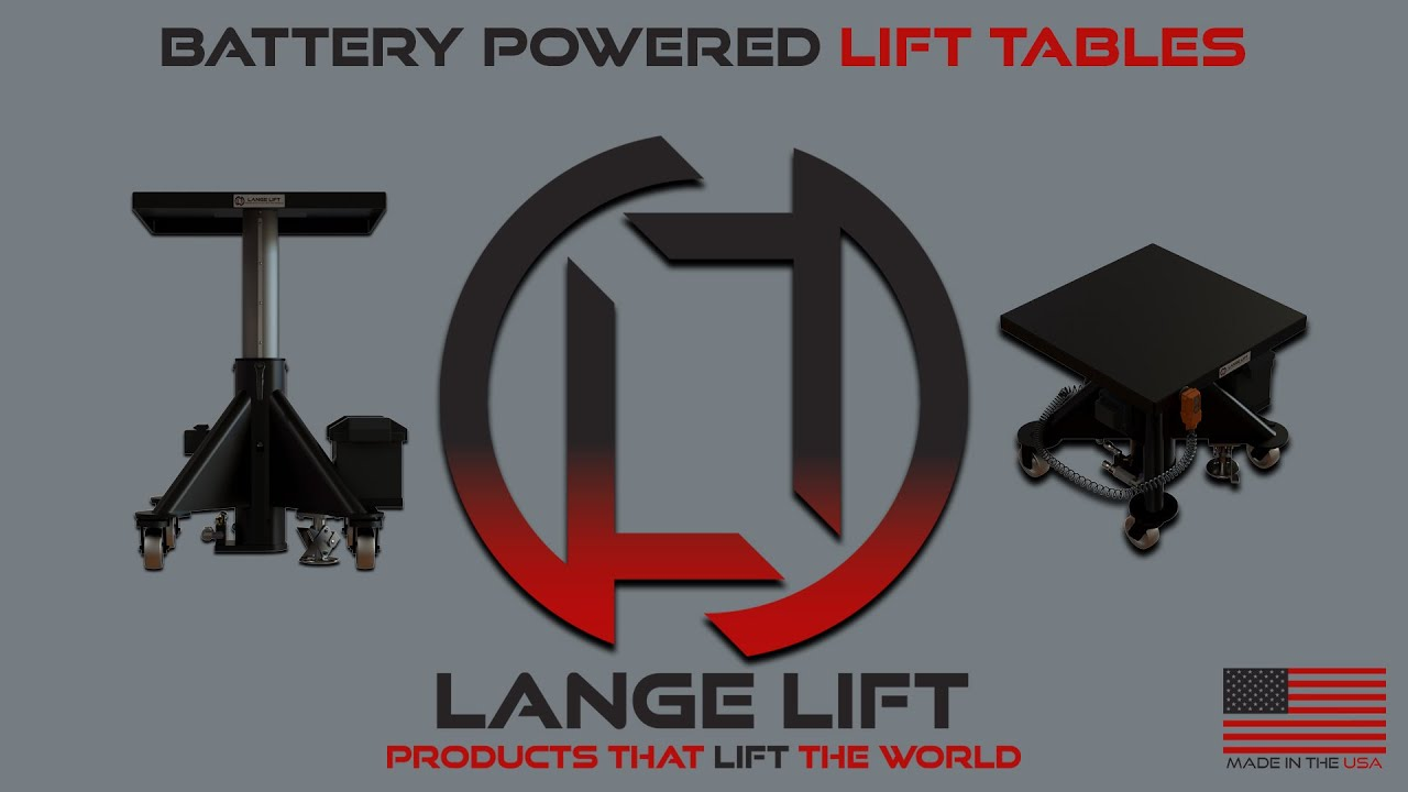 battery powered lift table 3 000 pound capacity lange lift