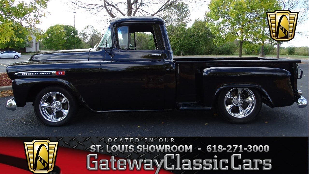 7052 1959 chevrolet apache gateway classic cars of st louis youtube. Black Bedroom Furniture Sets. Home Design Ideas