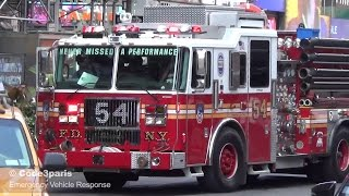 FDNY Engine 54 in Times Square Traffic