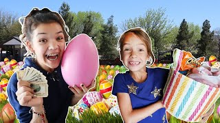 We hid money!! EASTER Basket Egg HUNT! Which KIDS will be FIRST to FIND the Golden EGG?!