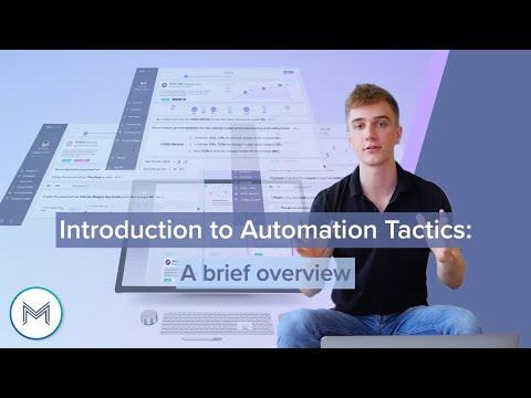 3.1 madgicx.com Automation Tactics<br> A brief overview