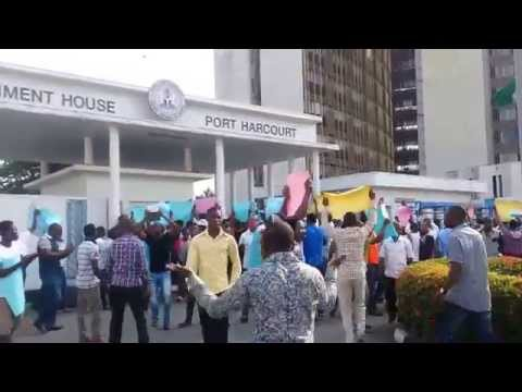 Ogoni People Protest Against Amaechi  over Dakuku