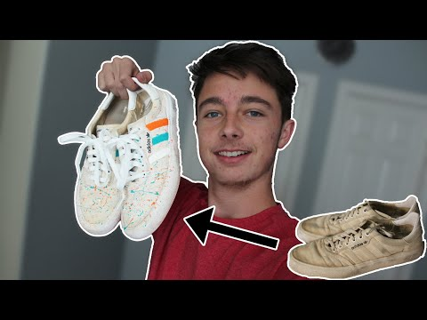 Restoring Custom Adidas Sneakers | Trash To Treasure Ep.1