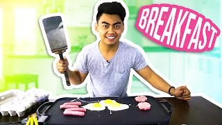 GUAVA JUICE COOKS BREAKFAST EGGS AND SAUSAGE GRIDDLE MUBANG!