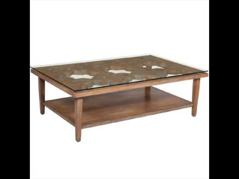 Glass Top Coffee Table with Wooden Base YouTube