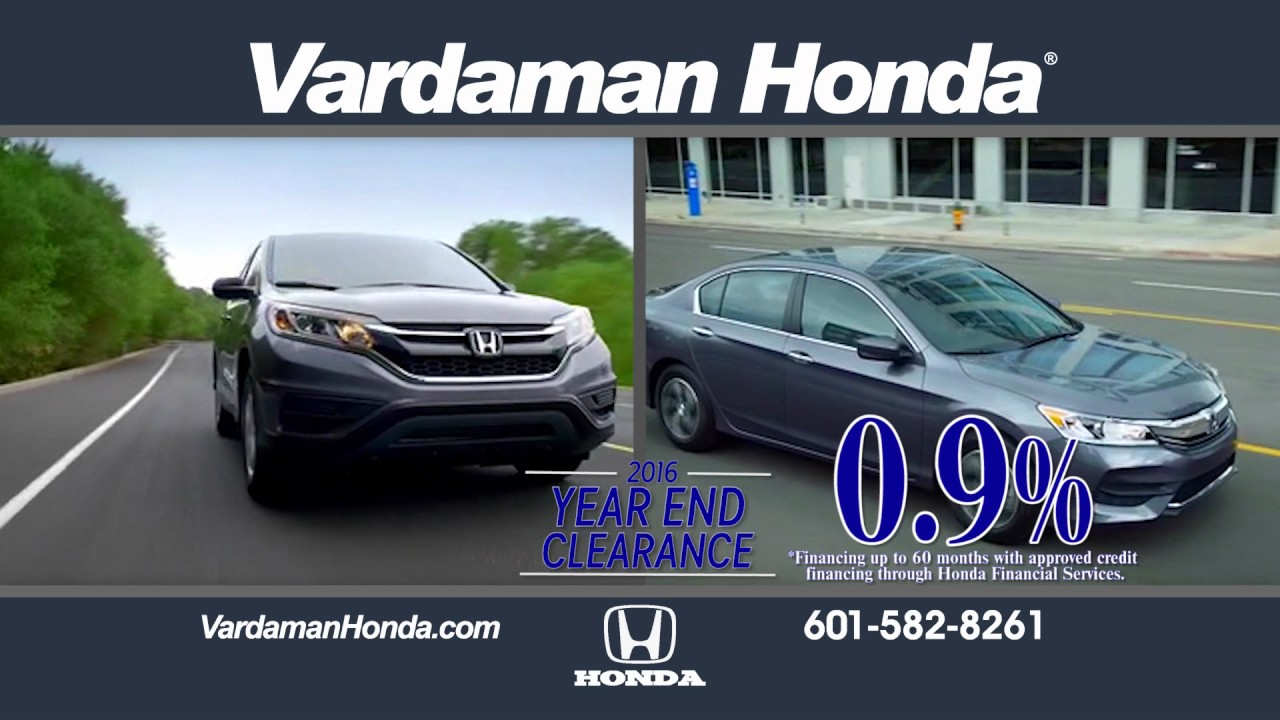 WDAM Commercial   Vardaman Honda   Year End Clearance