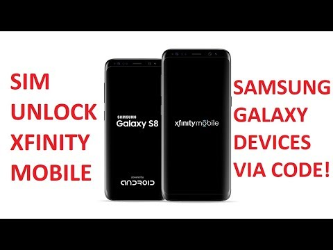 SIM Unlock Xfinity Mobile Samsung Galaxy Devices via Unlock Code