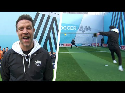 Wayne Bridge Scores Powerful Volley! | Wayne Bridge & Jason Fox | Soccer AM Pro AM