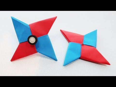 How to make a Paper Spinner | Origami Spinner | paper fidget spinner