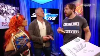 Video Shane Mcmahon, Becky Lynch and Dean Ambrose segment wwe smackdown live download MP3, 3GP, MP4, WEBM, AVI, FLV November 2017