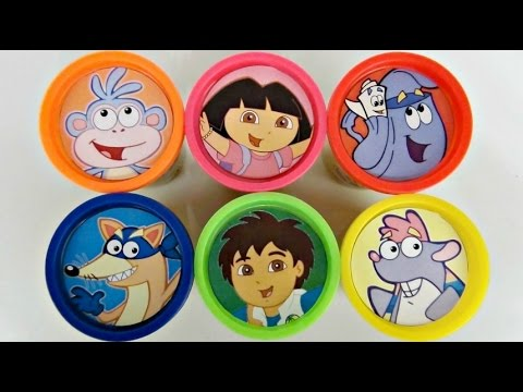 Download Learning Colors with DORA THE EXPLORER Play Doh Surprises