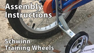 "Attaching Schwinn Training Wheels to a 16"" Bicycle"