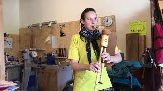 Lisa Wolf a remporté un prix régional en fabriquant une cornemuse berrichonne
