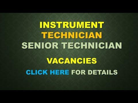 Instrument Tech and Sr Inst technician vacancies in SAUDI ARABIA