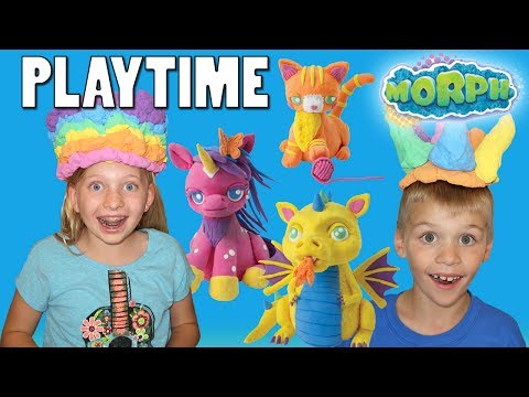 Learn Colors with Play Foam! Squishy, Fluffy Kinetic Sand in Water! Playtime with Morph