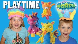 Squishy, Fluffy Kinetic Sand in Water! Playtime with Morph