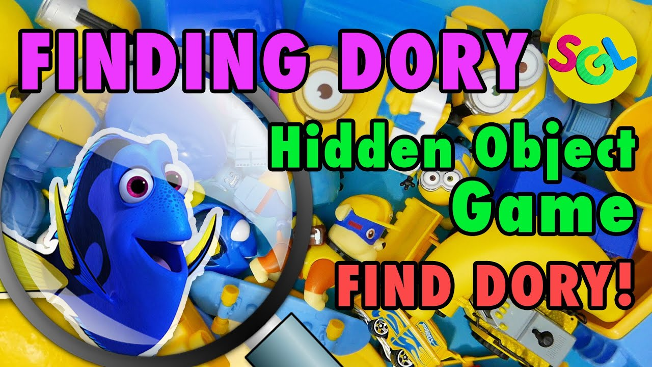 Finding Dory Puzzle Game For Kids Hidden Object Game Find Dory