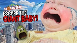 Pear Escape THE GIANT BABY!!! | Roblox échapper à la garderie Obby