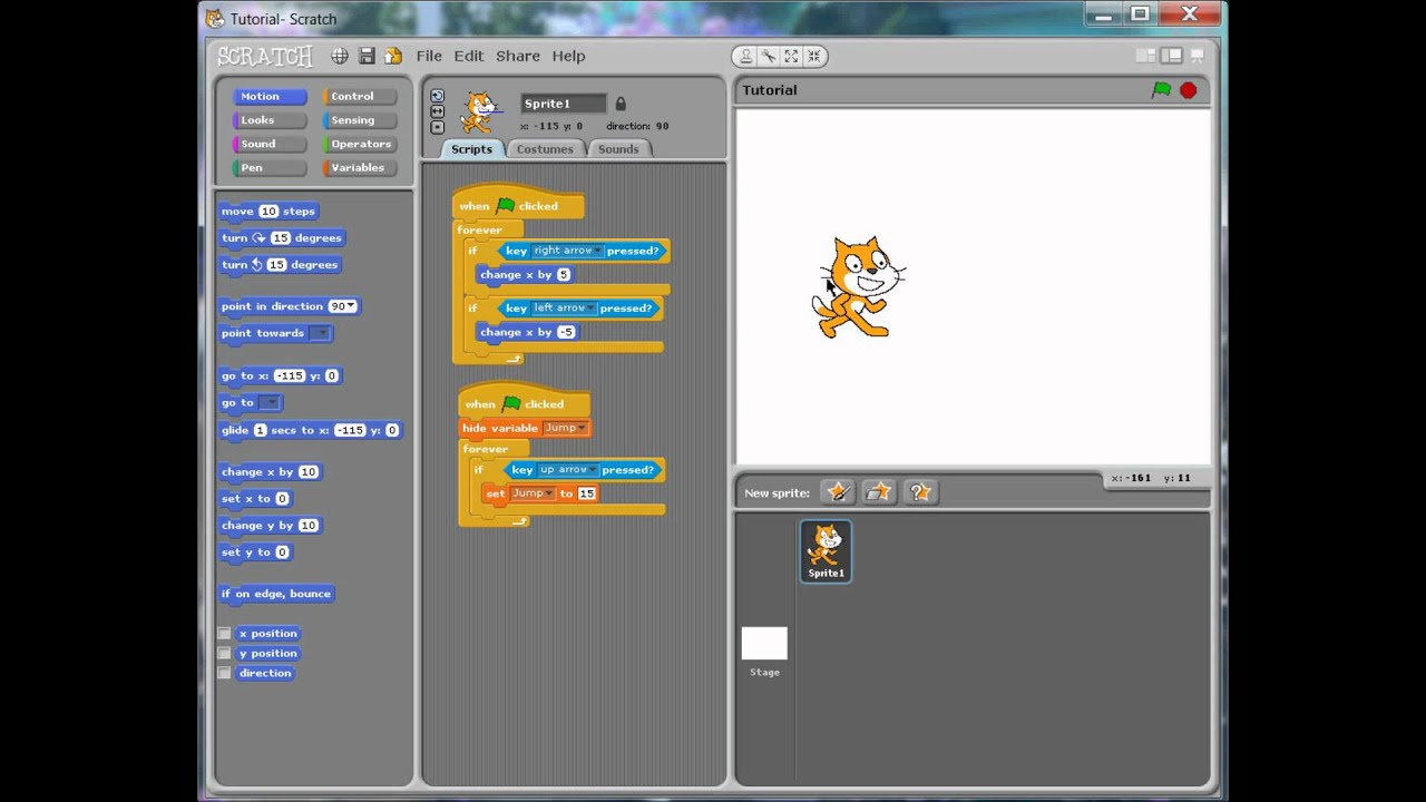 Scratch Tutorial- How to Jump - YouTube