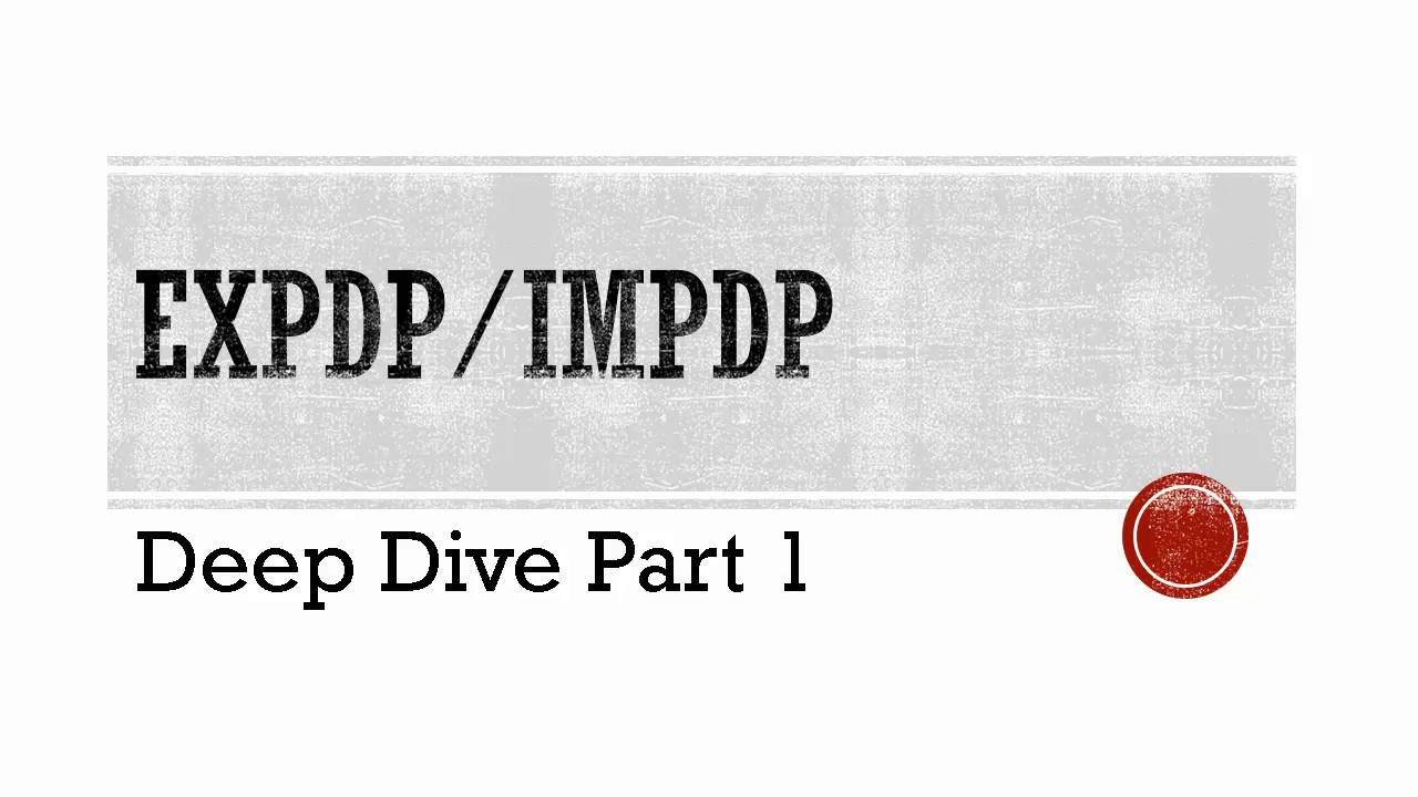 Best Oracle expdp impdp rac 12c - Deep dive part 1