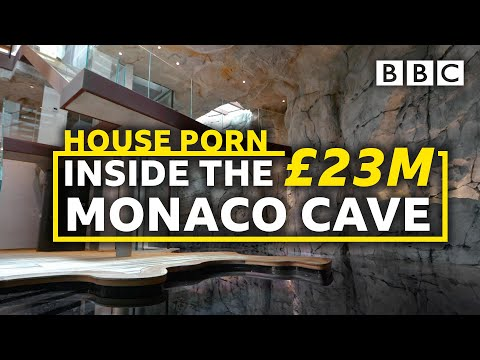 The £23 million villa carved from a rock with NO view! | Inside Monaco - BBC