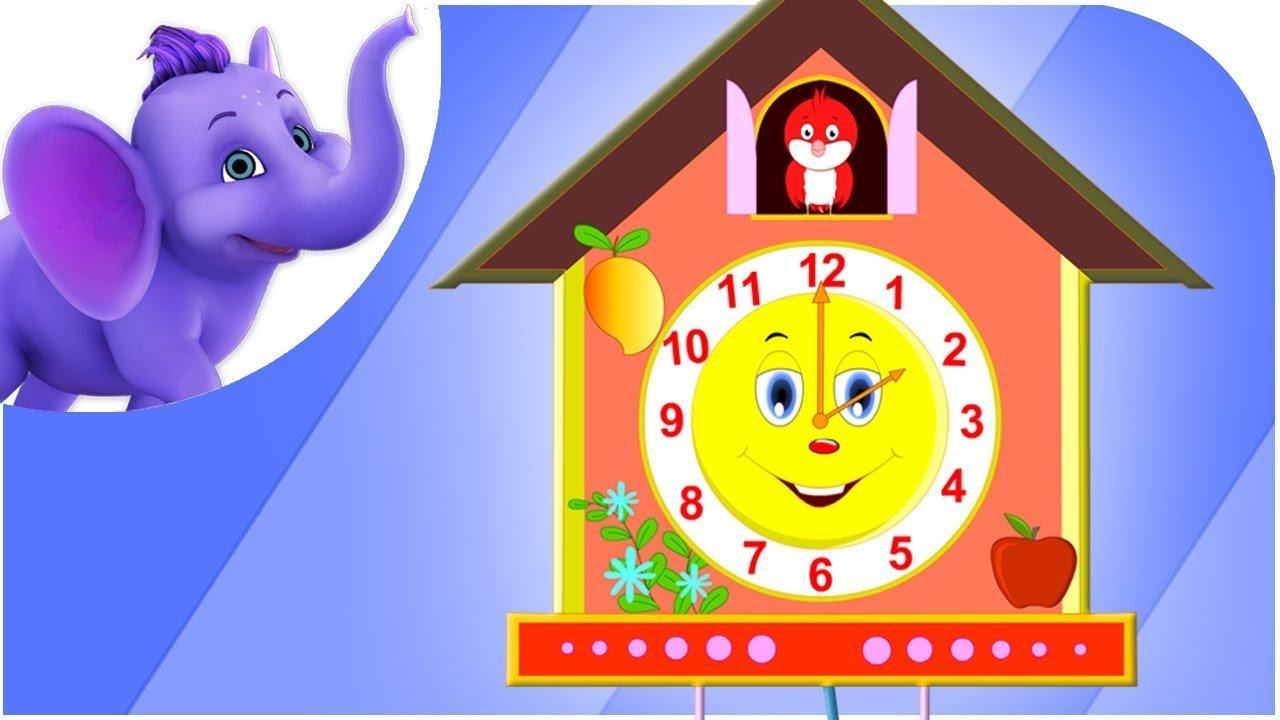 The Clock Nursery Rhyme With Lyrics Sing Along