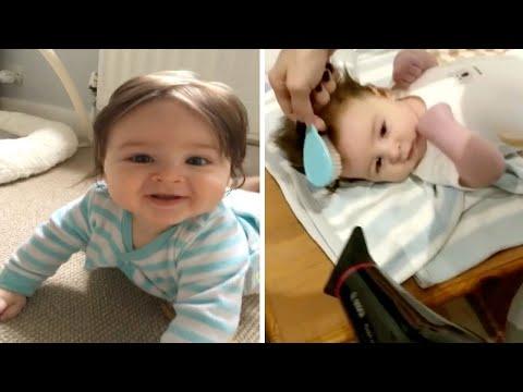 Baby Has Incredible Rock Star Hair