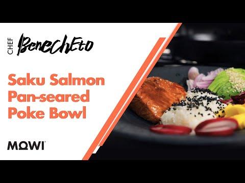 MOWI Saku Salmon Pan-seared Poke Bowl
