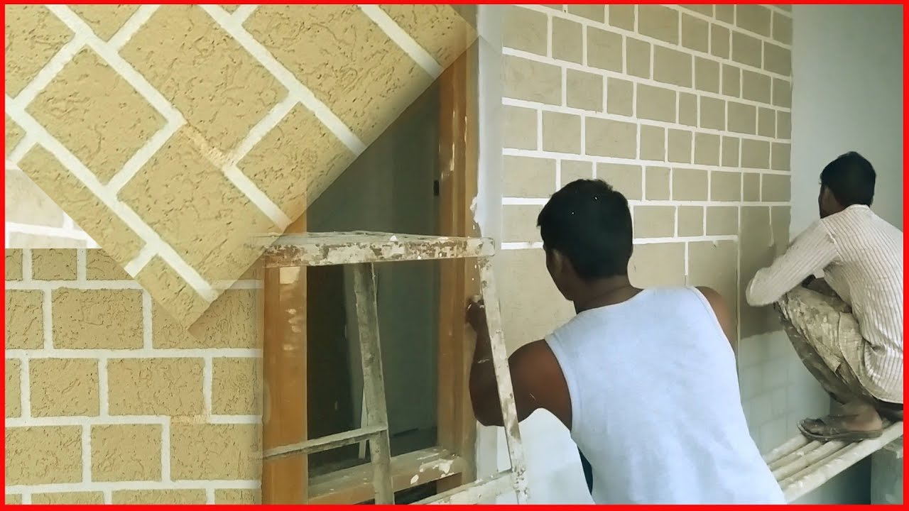 Amazing Wall Putty Texture Technique Tape Patch Work Interior Design Youtube