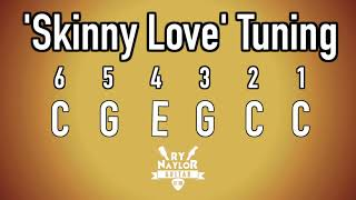 skinny love guitar tuning notes - bon iver acoustic guitar altered tuning