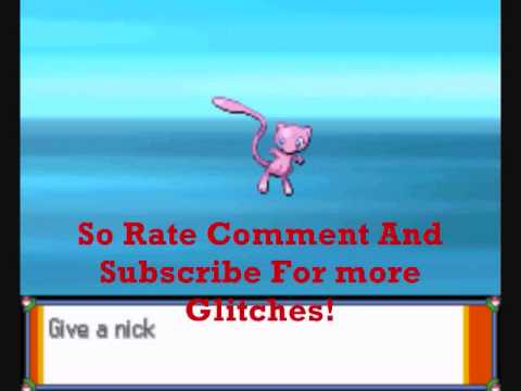 Pokemon Heart Gold And Soul Silver Mew Glitch!