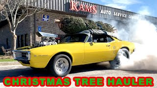 Hauling Mom's Christmas Tree with My Pro Street '67 Firebird: Finnegan's Garage Ep.122