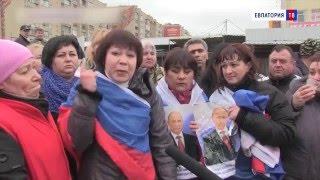 Евпаторийцы на коленях умоляли Путина спасти местный рынок