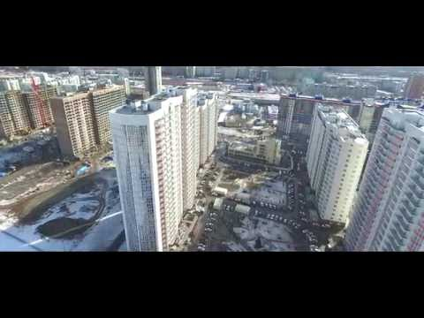 Аэросъемка Красноярск - город с высоты, март 2016 (FULL)