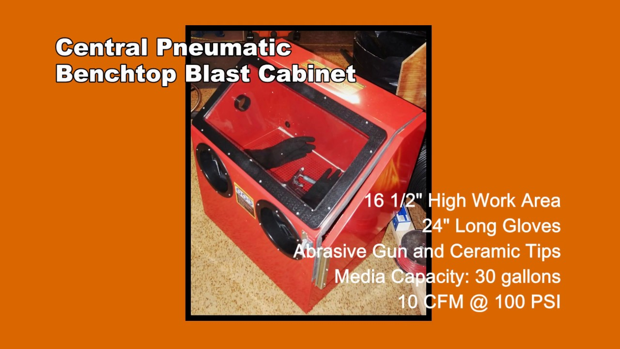 Central Pneumatic Blast Cabinet 42202 Manual Mail Cabinet