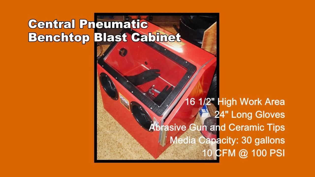 Blast Cabinet - Central Pneumatic Benchtop Blast Cabinet