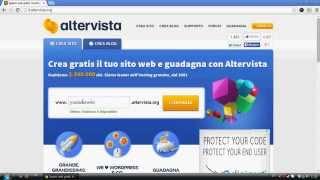 Tutorial 1 - Come creare un sito web gratis su Altervista