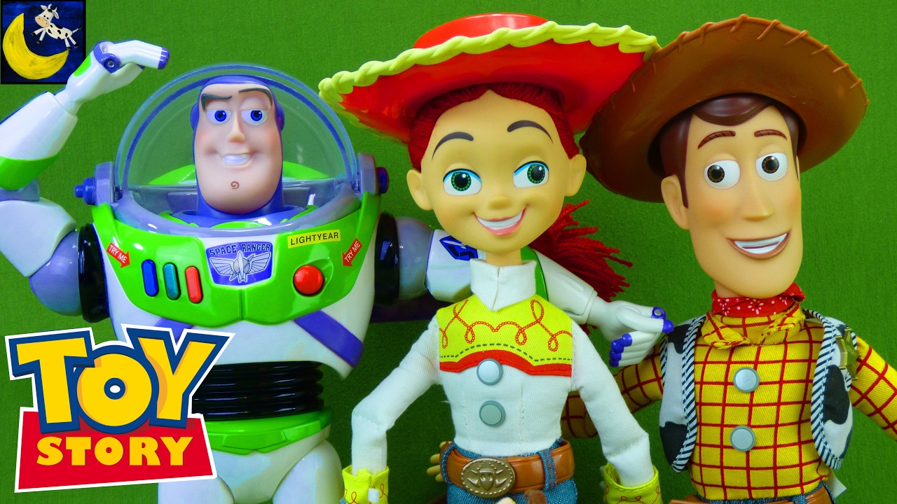 696e87f80 Toy Story Toys 1 2 3 Collection Video Buzz Lightyear Jessie Bullseye ...