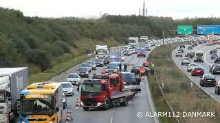 Færselsuheld på Amagermotorvejen.