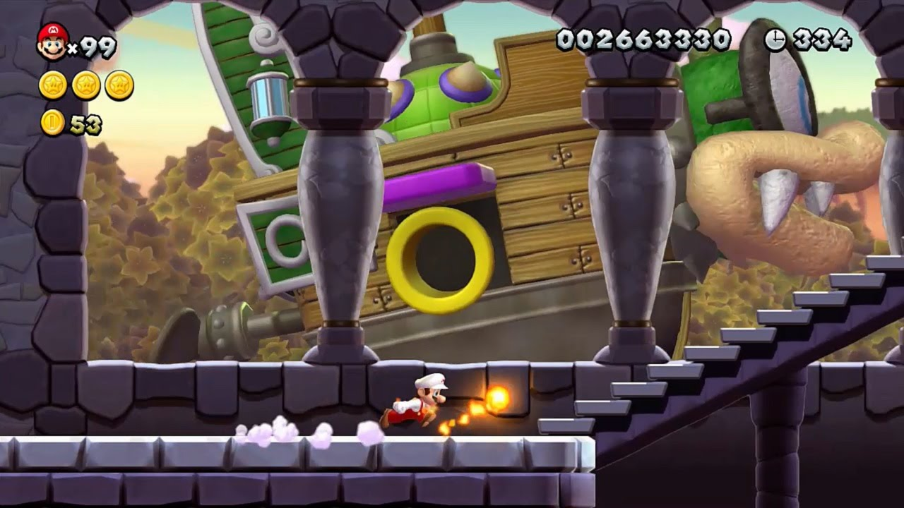 New Super Mario Bros U Walkthrough Part 5 World 5 Soda Jungle