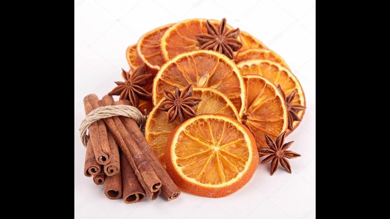 как засушить фрукты для декора