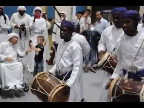 Music, dance and poetry ensemble from near Sur in Oman, as part of the Abu Dhabi Book Fair 2013.