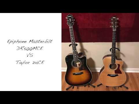 Epiphone Masterbilt DR500 MCE vs Taylor 214CE