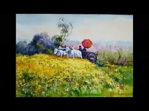 Myanmar Watercolor Painting_Mandalay