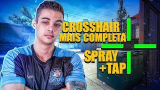 DICAS com a CROSSHAIR mais COMPLETA do CS:GO (spray + tap)